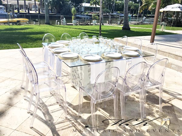 Event rentals in Miami - Table rentals in Miami