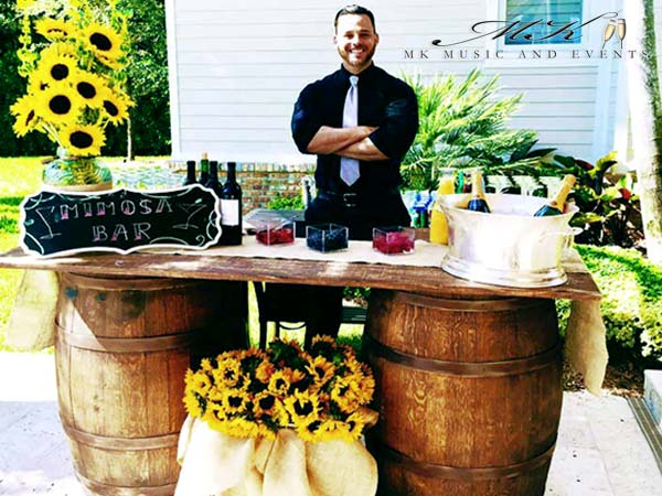 Event rentals in Miami - Barrels rentals - Bar rentals & Bartenders