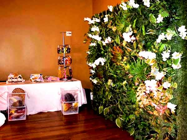 grass wall backdrop mk music and events event rentals in miami